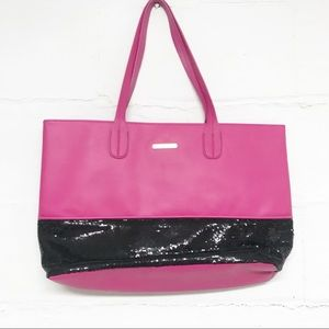 Juicy Couture Pink and Black Sequin Large Tote Bag
